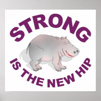 El hipopótamo, fuerte es la nueva cadera póster