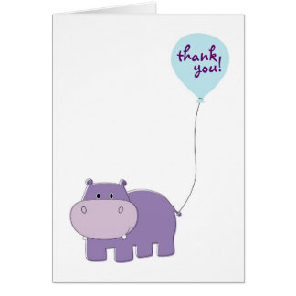 El hipopótamo le agradece las tarjetas