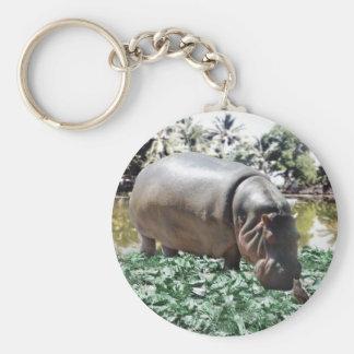 El hipopótamo y el pájaro llaveros personalizados