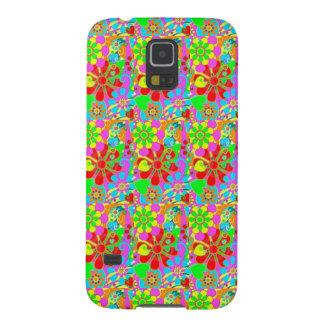 El Hippie inspiró las cajas florales de la galaxia Funda Para Galaxy S5