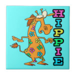 el hippie lindo florece el personaje de dibujos an teja  ceramica