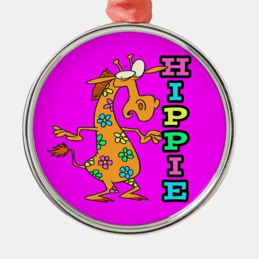el hippie lindo florece el personaje de dibujos an adornos de navidad