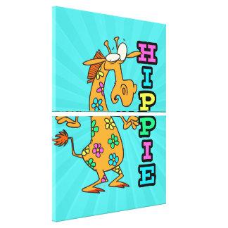el hippie lindo florece el personaje de dibujos an lona envuelta para galerias
