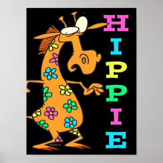 el hippie lindo florece el personaje de dibujos an impresiones