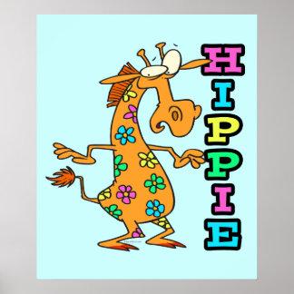 el hippie lindo florece el personaje de dibujos an posters