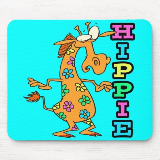 el hippie lindo florece el personaje de dibujos an tapete de raton