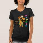 el hippie lindo florece el personaje de dibujos camisetas