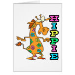 el hippie lindo florece el personaje de dibujos tarjeta de felicitación