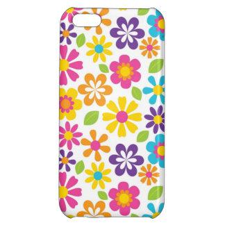 El Hippie retro florece iPhone fresco 5 casos para