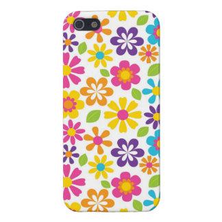 El Hippie retro florece iPhone fresco 5 casos para iPhone 5 Funda