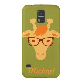 el hipsta Samsung animal de la jirafa del Fundas De Galaxy S5