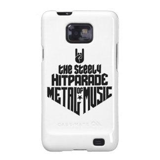 El Hitparade inflexible de la música 1c (negro) de Galaxy SII Funda