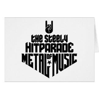 El Hitparade inflexible de la música 1c (negro) de Tarjeton