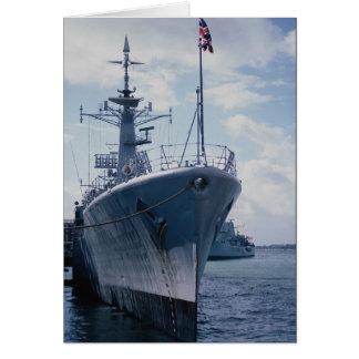 """El HMS Apolo"""" amarró, los días de la marina de gue Tarjeta De Felicitación"""