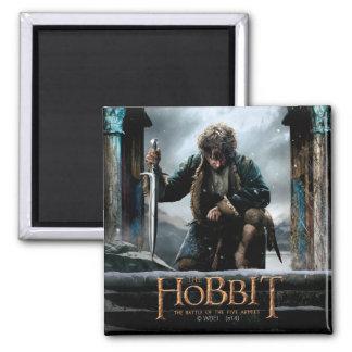 El Hobbit - cartel de película de BILBO BAGGINS™ Imán Cuadrado