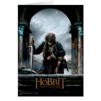 El Hobbit - cartel de película de BILBO BAGGINS™ Tarjeta De Felicitación