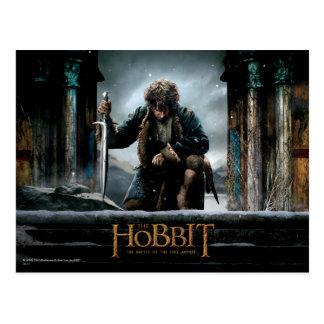 El Hobbit - cartel de película de BILBO BAGGINS™ Tarjetas Postales