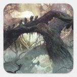 El Hobbit: Desolación del arte 2 del concepto de Calcomanía Cuadrada