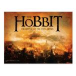 El Hobbit: La BATALLA del logotipo de CINCO Postales
