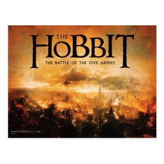 El Hobbit: La BATALLA del logotipo de CINCO Tarjeta Postal