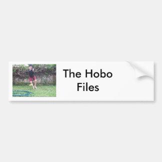 El hobo archiva a la pegatina para el parachoques pegatina para auto