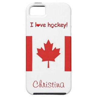 ¡El hockey de las mujeres! - Bandera iPhone 5 Carcasas