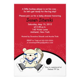 El hockey del oso polar se divierte la fiesta de b anuncios