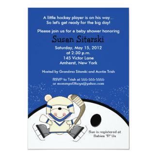 """El hockey del oso polar se divierte la fiesta de invitación 5"""" x 7"""""""