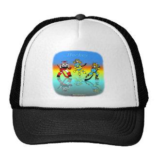 El hockey embroma el gorra del camionero