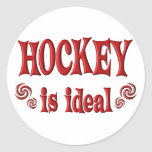 El hockey es ideal pegatina redonda