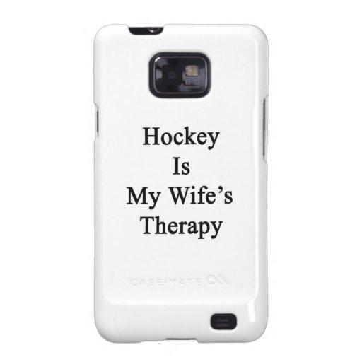 El hockey es la terapia de mi esposa samsung galaxy SII carcasas