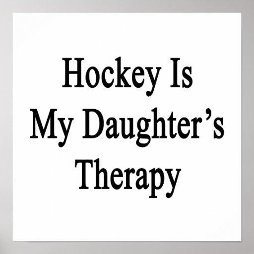 El hockey es la terapia de mi hija poster
