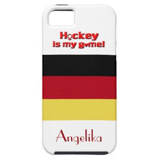 ¡El hockey es mi juego! - Bandera alemana+Nombre Funda Para iPhone SE/5/5s