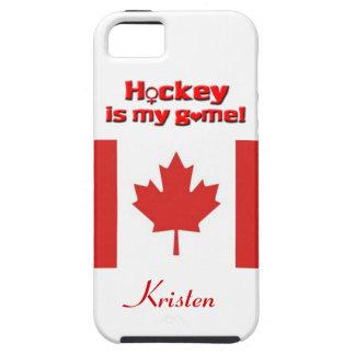 ¡El hockey es mi juego! - Bandera iPhone 5 Carcasa