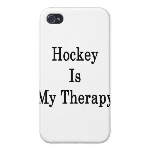 El hockey es mi terapia iPhone 4/4S carcasa