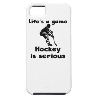 El hockey es serio iPhone 5 Case-Mate protector