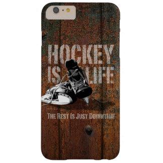El hockey es vida funda para iPhone 6 plus barely there
