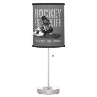 El hockey es vida lámpara de mesilla de noche