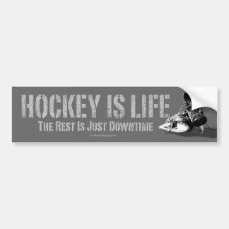 El hockey es vida pegatina de parachoque