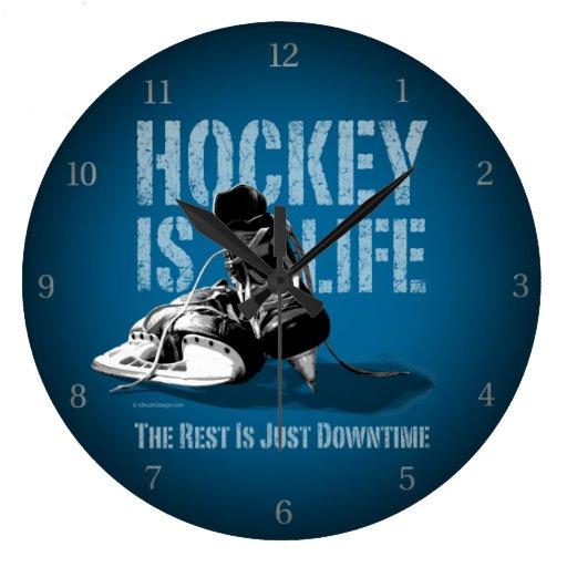 El hockey es vida relojes de pared