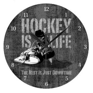 El hockey es vida reloj redondo grande