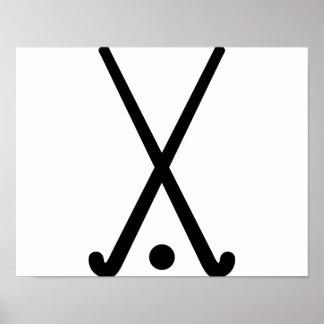 El hockey hierba aporrea la bola póster
