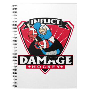 El hockey inflige daño spiral notebooks
