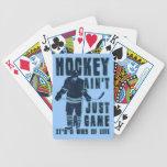 El hockey no es apenas naipes de un juego baraja de cartas