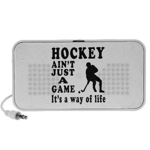El hockey no es apenas un juego que es una manera  altavoz de viajar
