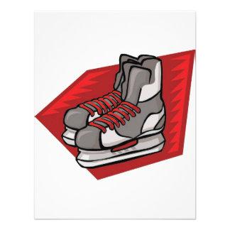 El hockey patina rojo comunicado