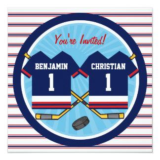 El hockey sobre hielo hermana a la 1ra fiesta de anuncio