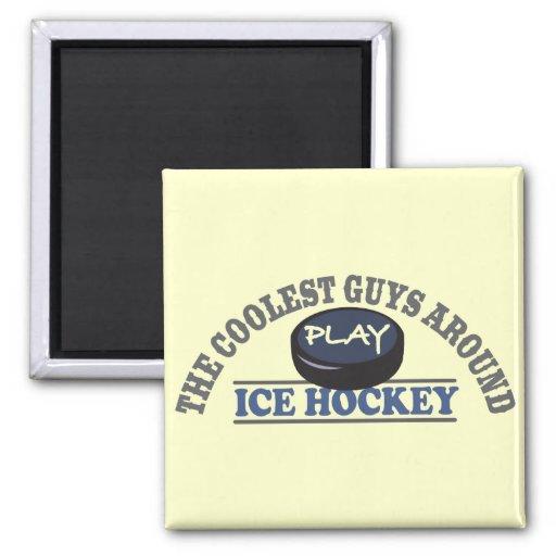 El hockey sobre hielo más fresco del juego de los  iman de nevera