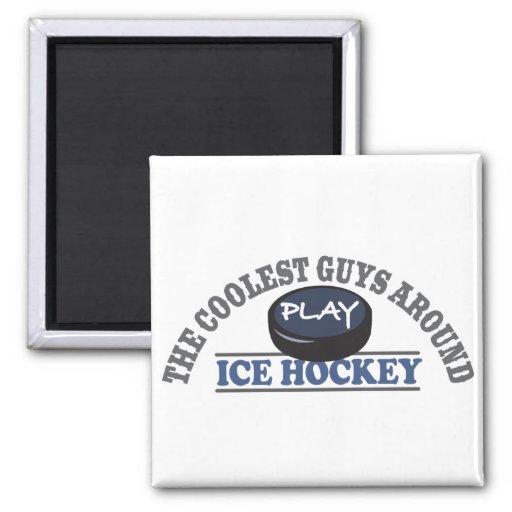 El hockey sobre hielo más fresco del juego de los  imán de frigorifico