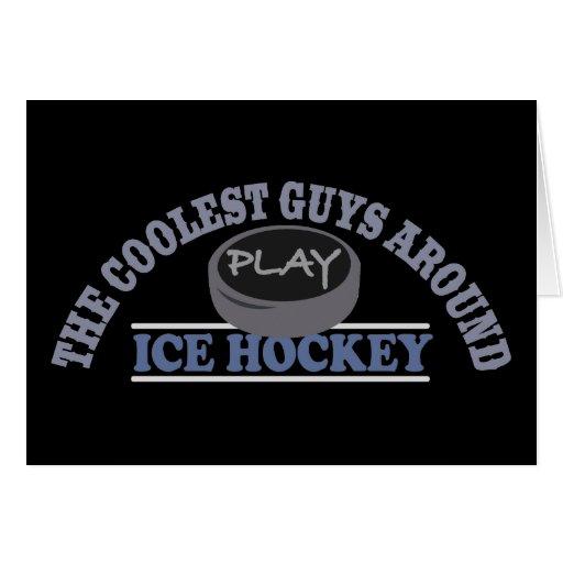 El hockey sobre hielo más fresco del juego de los  tarjeta de felicitación